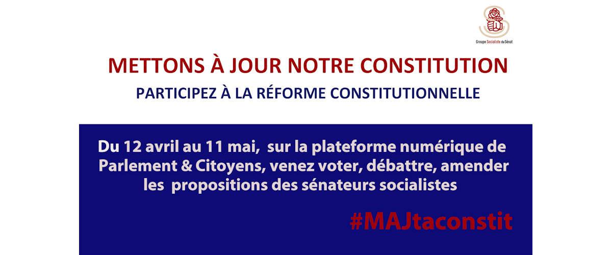 Participez à la réforme constitutionnelle